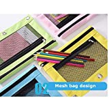 Binder Pencil Pouches-2 Pack 3 Ring Pencil Pouch