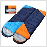 sleeping bag - Free Walk Envelope Sleeping Bag Couple sleeping bag Can be spliced 3.6 pounds Warm 3 Season Easy to carry Outdoor Sports Camping Hiking Blue color Right Zip
