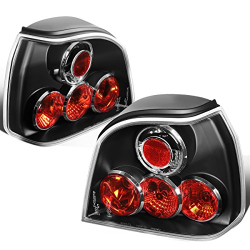 (DNA Motoring CLOSE-TLZ-GOLF3-9297-BK Altezza Style Tail Light Black [For 93-99 VW Golf/Cabrio])