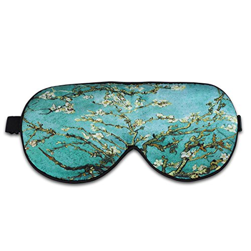 Alaska Bear Natural Silk Sleep Mask, Blindfold, Super Smooth Eye Mask (Almond Blossom) -