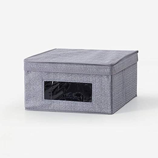 IVHJLP Cajas de almacenaje Caja de Almacenamiento de Tela con Tapa ...