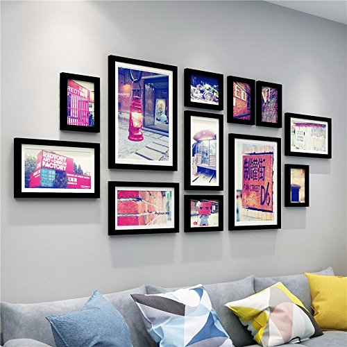 WUXK European style solid wood photo wall decoration is minimalist modern photo frame wall photo wall combination of creative living room wall picture frame 4 by WUXK