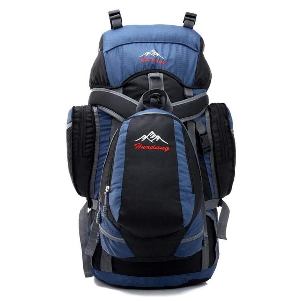 Eeayyygch 50L Kind Paket Outdoor-Umhängetasche Wandern professionelle Wandern (Farbe : Schwarz)