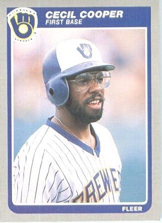 Entdecken Neuankömmlinge toller Wert Amazon.com: 1985 Fleer Baseball Card #580 Cecil Cooper Mint ...