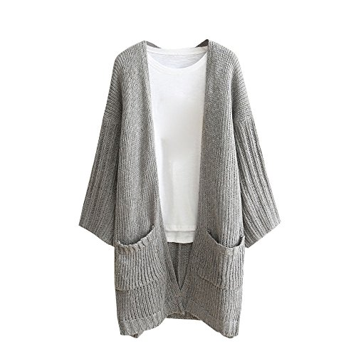 Pengy ✿✿✿Women Cardigan Lady Long Sleeve Loose Pocket Knitted Sweater Outwear (M, - Oakley Chart Lenses