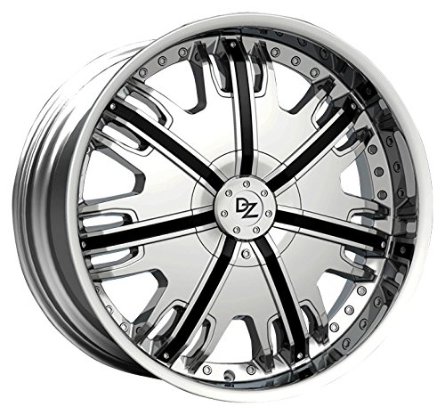 DZ 104 CAP CHROME WITH BLACK INSERTS FOR 22 INCH WHEEL by Z.D (Image #2)