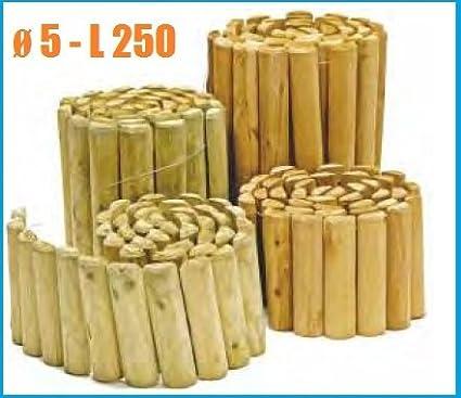 Bordure In Legno.Italfrom Bordura Rollborder Per Aiuole Giardino In Legno Di Pino L 250 Xh 40