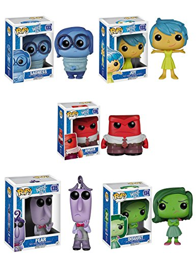 Funko Disney's Inside Out POP Vinyl - Fear, Anger, Joy, Disgust & Sadness Figurines (Set of 5) by FUNKO