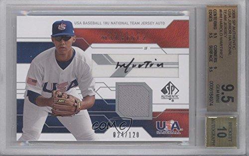 Harold Martinez Graded BGS 9.5 GEM MINT #24/120 (Baseball Card) 2008 SP Authentic - USA Baseball 18U National Team Jersey Autograph - Hm Authentic Jersey