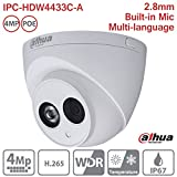 Dahua IP Camera IPC-HDW4433C-A 2.8mm 4MP Full HD IR Mini Turret Dome Network Camera ONVIF PoE Built-in Mic IP67 International Version
