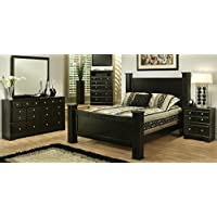 Sandberg Furniture 334A Elena Bedroom Set, Queen