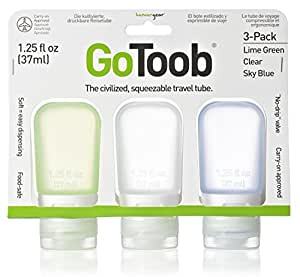 humangear GoToob 1.25 oz - 3 Pack Assorted Colors