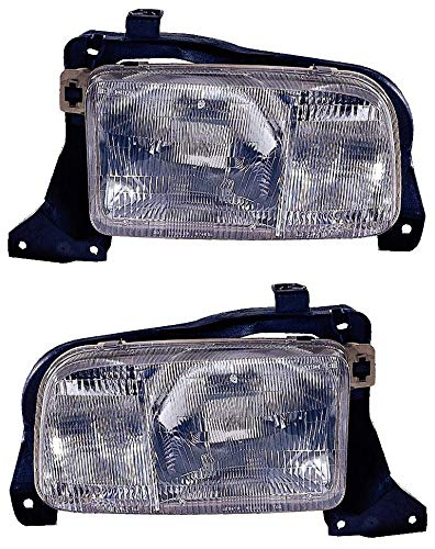 (For 1999 2000 2001 2002 2003 2004 Chevrolet Chevy Tracker Headlights Headlamps Assembly Driver Left and Passenger Right Side Pair Set Replacement GM2518140 GM2519140)