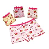 Distinct® 2pcs Cute Strawberry Printed Cotton Underpants Bow Children Underwear Girls Shorts Random Color