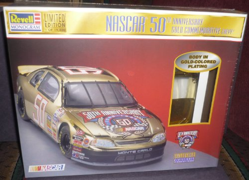 - Revell-Monogram Nascar 50th Anniversary Gold Commemorative Chevy 1/24 Scale Plastic Model Kit