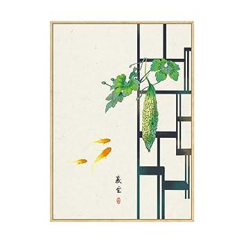 Pintura de lienzo de arte de pared chino original 24 tipos ...