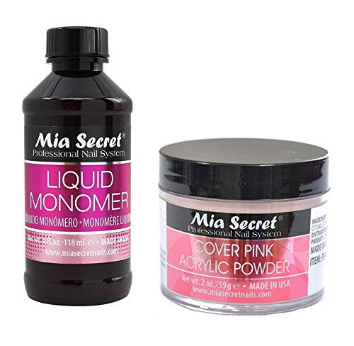 Mia Secret Set 4 Oz Liquid Monomer With Cover Pink Acrylic