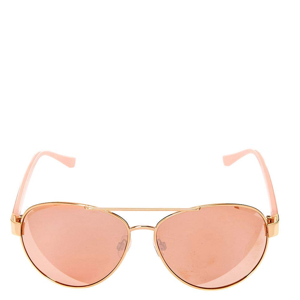 Claires Girls Rose Gold /& Pink Marble Sunglasses Gold//Pink