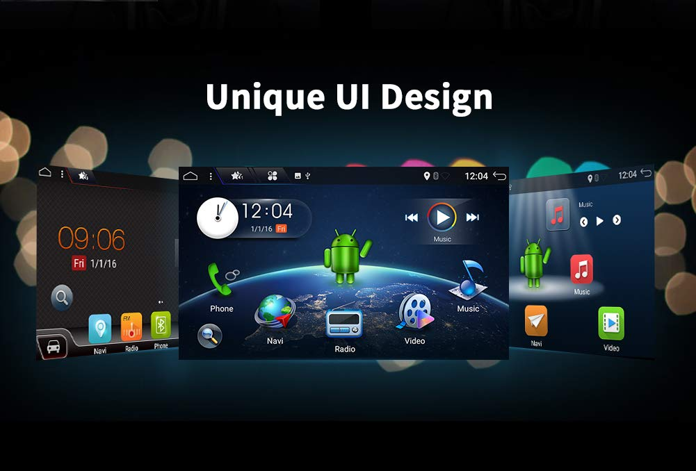 Android 7.1.1 Doble DIN Coche estéreo 9 Pulgadas Pantalla ...