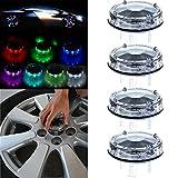 01 impala rims - CCIYU 4 Pack Car Wheel Rim Light Waterproof Solar Energy LED Flashing Lights Car Tyre Decoration Accessories