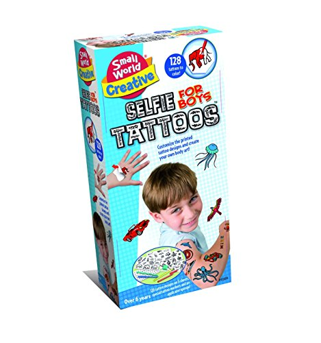 Small World Toys Creative - Selfie Tattoos for Boys (Boy Tattoo Kit)