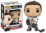 From NHL, Jonathan Toews, as a stylized POP vinyl from Funko Figure stands 3 3/4 inches and comes in a window display box. Check out the other NHL figures from Funko Collect them all. These are Canadian Exclusives