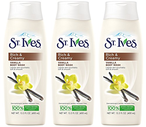 St. Ives Nourishing Vanilla Triple Butters Body Wash 13.5 Oz (Pack of 3)