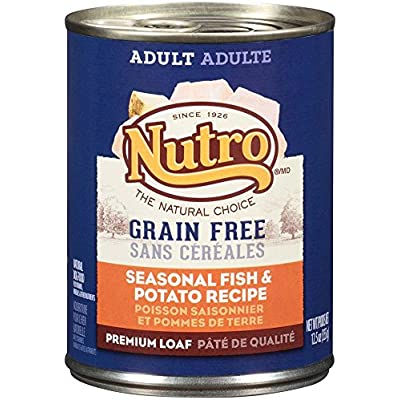 Nutro 50411589 Grain Free Seasonal Fish & Potato Recipe Adult Dog Food, 12 Ea/12.5Oz