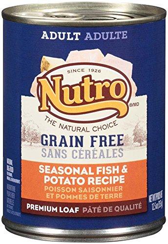 Nutro 50411589 Grain Free Seasonal Fish & Potato Recipe Adult Dog Food, 12 Ea/12.5Oz