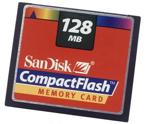 Pc Sandisk 128 Card Mb (SanDisk 128 MB CompactFlash Card)
