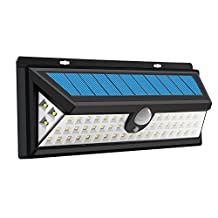 Oxygentle 54 LED Wide Angle Solar Lights, Super Bright Waterproof Wireless Security Outdoor Solar Powered Motion Sensor Wall Lights for Step, Garden, Yard, Deck, Garage, Patio, Pathway