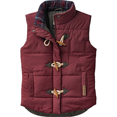 - Legendary Whitetails Ladies Quilted Vest Rusty Maroon Medium