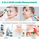 ?Upgraded?Firhealth Baby Forehead and Ear Thermometer for Fever, Medical Infrared Fever Thermometer, 1s Fast Reading with Clinical Accuracy, Digital Temporal Thermometer for Baby,Kids and Adults