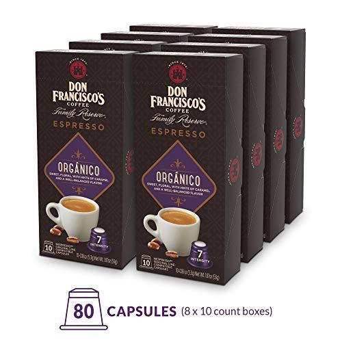 (Don Francisco's Espresso Capsules Organico, Intensity 7 (80 Pods) Compatible with Nespresso OriginalLine Machines, Single Cup Coffee)