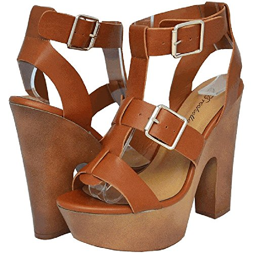 Breckelles Renee-21 Damesmode Pumps Tan