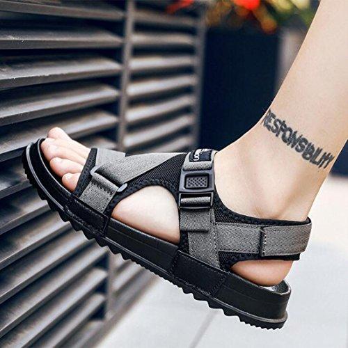 da Pantofole Sandali da Moda Gray E Traspiranti alla SPI Uomo Estivi Sandali Scarpe ASHnYvqw