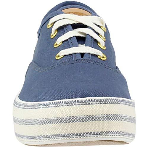 Metallic Rose Gold Sneaker Keds Kick Donna Linen Tpl Blau 74EqEBwxg