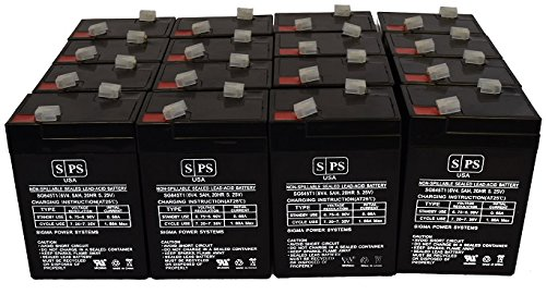 SPS Brand 6V 4.5Ah Replacement Battery for Ohio 504Us Pulse Oximeter (16 Pack)