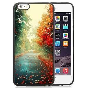NEW Unique Custom Designed iPhone 6 Plus 5.5 Inch Phone Case With Red Trees Autumn Path_Black Phone Case