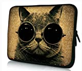MySleeveDesign 10 Inch Notebook Sleeve Laptop Neoprene Soft Case Pouch Bag 10 / 10.1 / 10.2 Inch - SEVERAL DESIGNS & SIZES Available - Cool Cat