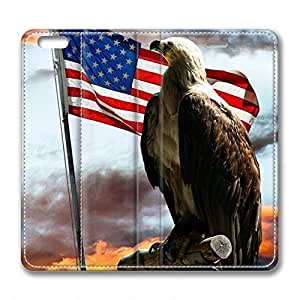 iCustomonline Leather Case for iPhone 6 Plus, The American Flag Stylish Durable Leather Case for iPhone 6 Plus