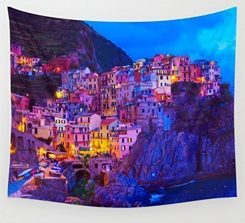 Manarola Cinque Terre Italy Wall Hanging Wall Tapestry Large Living Room  Wall Art College Dorm Room Part 35