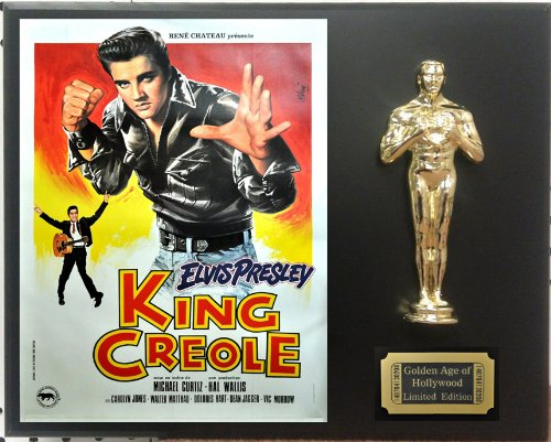 """Elvis Presley in """"King Creole"""", Limited Edition Oscar Display. Only 500 made. Limited quanities. FREE US SHIPPING"""