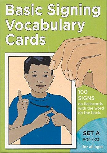 Vocabulary Cards: Set A (Green) (Sign Language - Hearing Series/Set A) -