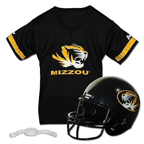 Tiger Helmet - Franklin Sports NCAA Missouri Tigers Helmet and Jersey Set