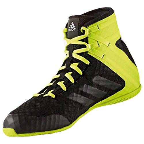 (adidas Speedex 16.1 Boxing Shoes, Black/Solar Yellow,)