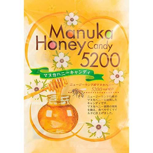 マヌカハニー キャンディ 80g 【ニュージーランド産 マヌカハニー UMF10+5200mg配合】のどあめ のど飴 マヌカ蜂蜜 はちみつあめ (1pack)
