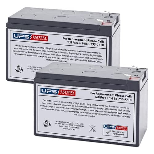 (2) 12V 7Ah F1 - Replacement battery set for Altronix SMP5PMCTX by UPSBatteryCenter