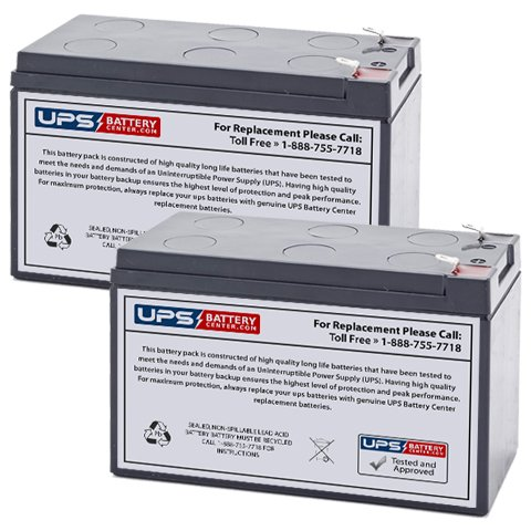 (2) 12V 9Ah F2 - New Powerware PW9125 700i Replacement Battery Set by UPSBatteryCenter