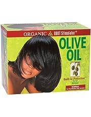 Relaxer/glättung Crema Organic Root circulación sanguínea Olive Oil Relaxer Kit normal (Regular)